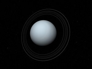 Artist's concept of Uranus and its rings