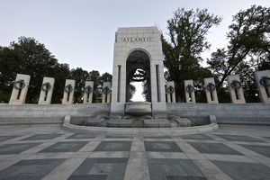 Atlantic arch at the World War II Memorial, Washington, D.C., USA