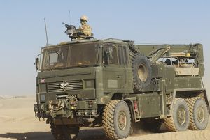A British Army Foden 6x6 heavy recovery vehicle