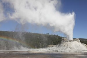 Castle Geyser eruption, Upper Geyser Basin geothermal area, Yellowstone National Park