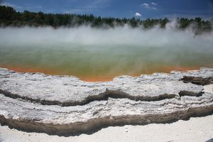 Champagne Pool hot spring, Wai-O-Tapu Geothermal area, Taupo Volcanic Zone, New Zealand