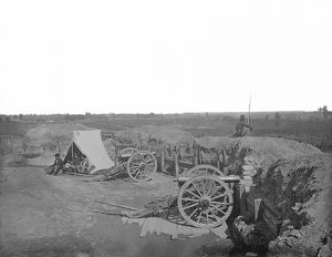Fortifications in front of Atlanta, Georgia, during the American Civil War