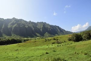The Ko'olau Range in Oahu, Hawaii