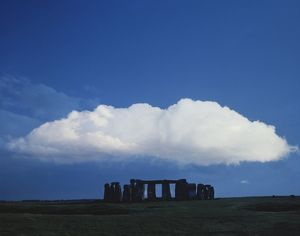 A large cloud over Stonehenge, Wiltshire, England