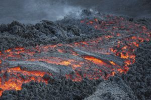 Lava flow on the flank of Pacaya volcano, Guatemala