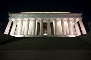 Lincoln Memorial lit up at night, Washington D.C., USA