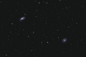 Messier 88 and Messier 91 in the constellation Coma Berenices