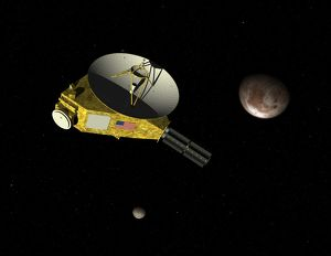 New Horizons spacecraft approaches dwarf planet Pluto and its moon Charon
