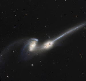 NGC 4676, also known as the Mice Galaxies