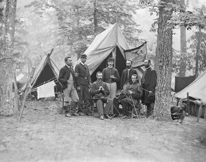 Officers from the 16th Pennsylvania Cavalry during the American Civil War