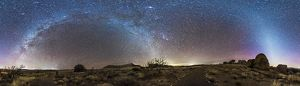 Panorama of Milky Way and zodiacal light over New Mexico