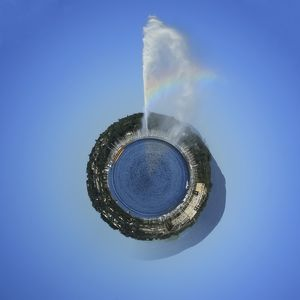 Planet with water fountain, Geneva, Switzerland