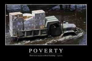 Poverty: Inspirational Quote and Motivational Poster