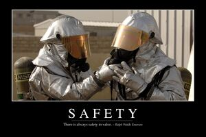 Safety: Inspirational Quote and Motivational Poster