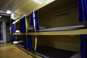 Seaman lockers and bunks aboard USS Missouri
