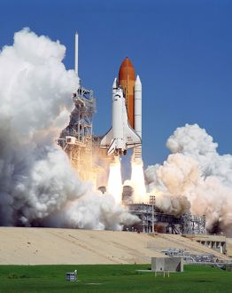 Space Shuttle Atlantis lifts off from Kennedy Space Center