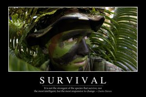 Survival: Inspirational Quote and Motivational Poster