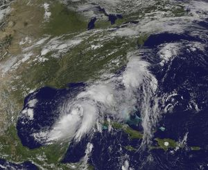 Tropical Storm Hermine in the Gulf of Mexico