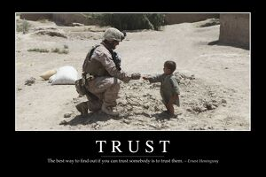 Trust: Inspirational Quote and Motivational Poster