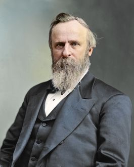 Vintage American history photo of President Rutherford B. Hayes