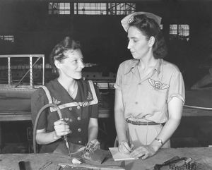 Women working in the Assembly and Repair Dept. of Naval Air Base, Corpus Christi, Texas